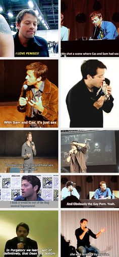 "(gif set) ""Your mouth, sir.. ~ with Misha Collins Part 2"""