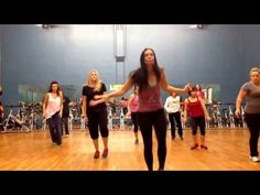 Two Step - Fun and easy Zumba routine Easy Dance Routine, Zumba Routines, Senior Fitness, Yoga Fitness, Fitness Tips, Dance Fitness, Fitness Exercises, Line Dance, Zumba Videos