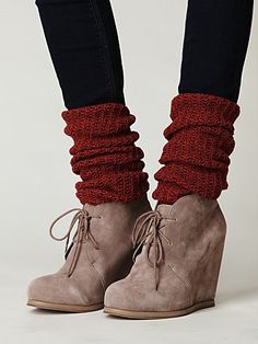 booties! love this look, target and old navy have some cutes ones! not sure if i can pull this off though...
