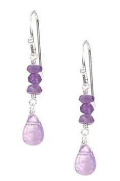 Candela Sterling Silver Multi Amethyst Dangle Earrings
