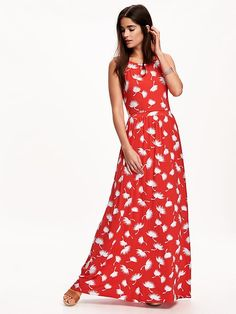 80b81314ff57e 15 Fabulous Summer Dresses Under $100 (including 5 under $40!) Red MaxiNavy  ...