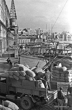 Spain. Barcelona Harbour, 1930s