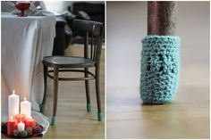 Chair socks Floor protector table legs cover chair leg socks table socks cozy legwarmer home decor Eco-friendly gift (15.00 USD) by HandfulCrafts
