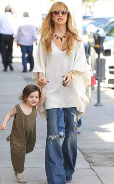 Out for a Stroll from Celebrity Street Style Rachel Zoe sports a Calypso St. Barth top while out with Skyler in Beverly Hills.