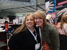 XmasDolly and Kayla of Eclectic Element, my cyber-daughter!  We finally met after four years!  She's such a sweetie!
