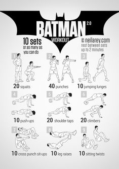 Batman Workout - This one looks easy on paper but it can be INTENSE.