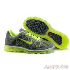 outlet store d344d 41576 2014 New Air Max Femme Nike Air Max 2011 Hommes Gris vert Mesh et  chaussures Nike