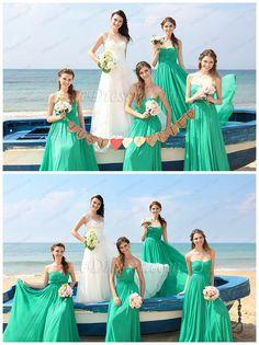 Fresh mint green bridesmaid dressses! #edressit #bridesmaid_dresses #wedding #mint