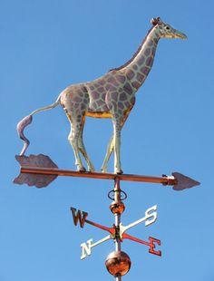 Giraffe Weathervane - Optional Gold Leafing