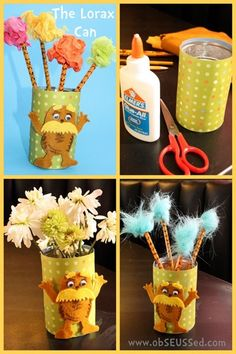 obSEUSSed.com - Dr. Seuss crafts would be a fun craft for scouts or school