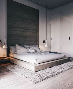 44 Stunning Minimalist Modern Master Bedroom Design Best Ideas is part of Minimalist bedroom design - Would you like to design the perfect modern master bedroom Do you find that you have plenty of space to […] Modern Bedroom Design, Master Bedroom Design, Contemporary Bedroom, Home Decor Bedroom, Master Bedroom Minimalist, Bedroom Designs, Modern Bedrooms, Diy Bedroom, Bedroom Loft