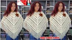 ponchos a crochet paso a paso en español - YouTube