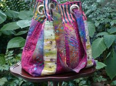 Roseann Straub's Bubbles & Flipflops Quilted Bag (Cloth/Fabric)