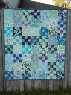 Nine-patch quilt - f