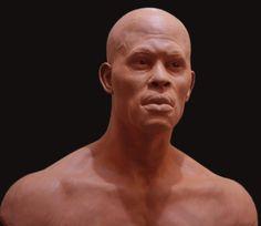 Busto de homem negro criado por Alex Oliver