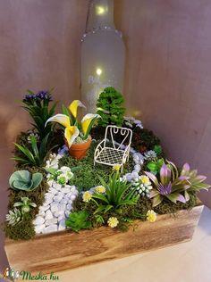 Kis kert (ranyomlak) - Meska.hu Decoupage, Plants, Diy, Bricolage, Diys, Planters, Handyman Projects, Do It Yourself, Plant