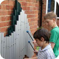 Swirl Aluminium Chimes - Children's Outdoor Playground Equipment