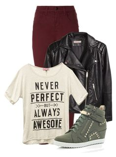 """""""Untitled #1201"""" by andreastoessel ❤ liked on Polyvore featuring J Brand, H&M, Wet Seal and River Island"""