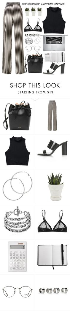 """""""Untitled #82"""" by kell-a ❤ liked on Polyvore featuring Mansur Gavriel, Etro, Topshop, Melissa Odabash, Chive, Muji, Ray-Ban and Maison Margiela"""