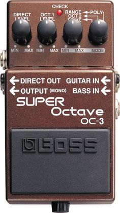 BossOC-3 SUPER Octave Pedal   -Amazing Bass simulator for live shows.