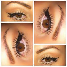 Simple make up look! Winged eye & white eyeliner. #mac #makeup #cosmetics #eyes