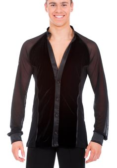 DSI Frank Mens Latin Shirt 4043 | Dancesport Fashion @ DanceShopper.com