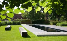 Lap pool in the English countryside designed by BHSLA Landscape Architects.