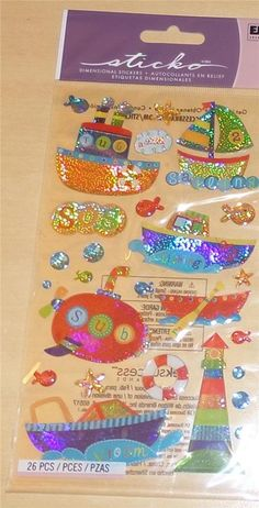 Sticko Toy Boats Epoxy Cute! Glittery and Shiny! #JoleesBoutique #Stickers