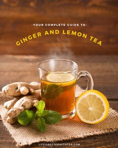 Your complete guide to ginger and lemon tea. Ginger lemon tea made with black loose-leaf tea is quick and easy to make. This one ingredient transforms a good cup of tea into the BEST GINGER TEA!  Ginger lemon tea seems to be all the rage lately, but in truth, it's been around for thousands of years. Ginger is known for being one of the healthiest spices in the world. The Chinese have been using ginger root in herbal medicine as an overall digestive aid for over 4,000 years.  Learn more...