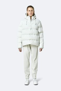 Puffer Anorak is an insulated winter jacket from Rains' Thermal category, constructed from a breathable, yet waterproof PU fabric. Puffer Anorak is designed as a roomier, unisex silhouette with wide puffer chambers that are filled with a plant-based insulation. Rains' puffers feature an innovative approach to quilting Cold Weather, Female, Jackets, Insulation, Plant Based, Quilting, Silhouette, Products, The Last Song