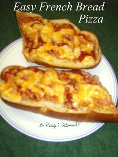 In Cindy's Kitchen: Easy French Bread Pizza: Pizza in a Hurry