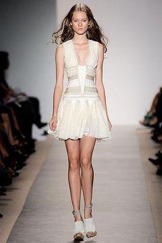 Leighton Meester wearing Herve Leger Dress.