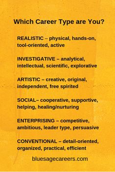What Career Type Are You? Holland Codes are personality types that match your interests with a list of career choices that would be a good fit for you. Midlife Career Change, My Career, Career Path, Career Goals, Career Advice, List Of Careers, Career Quiz, Career Help, Personality Types