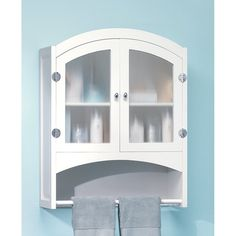 Elegant Bathroom Storage Cabinet - Are you needing extra storage space in you bathroom or any other room for that matter? This Elegant Bathroom Storage Cabinet elegantly hides bath products and towels or anything else behind opaque glass doors. Bathroom Wall Cabinets White, Wall Storage Cabinets, Glass Bathroom, Wood Bathroom, Bathroom Furniture, Bathroom Modern, Wood Cabinets, Bathroom Ideas, Bathroom Bath