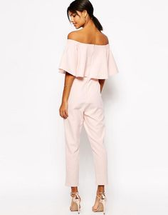 ASOS | ASOS Jumpsuit with Ruffle Bardot at ASOS