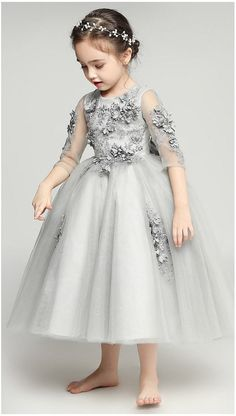Girly Shop I Gray Floral Dress – Girly Shop - A Taste For A Girl!