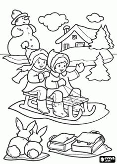 266 Christmas printable coloring pages for kids. Find on coloring-book thousands of coloring pages. Christmas Coloring Pages, Coloring Book Pages, Printable Coloring Pages, Coloring Pages For Kids, Coloring Sheets, Christmas Colors, Kids Christmas, Kids Playing In Snow, Baby In Snow