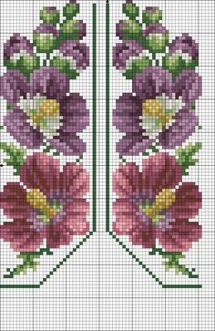 Cross stitch or tapestry pattern charts Cross Stitch Bookmarks, Cross Stitch Borders, Cross Stitch Rose, Cross Stitch Flowers, Cross Stitching, Cross Stitch Patterns, Beaded Embroidery, Cross Stitch Embroidery, Hand Embroidery