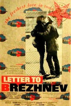 Letter to Brezhnev Peter Firth, Alfred Molina, Tracy Marshak-Nash ~ Director: Chris Bernard (Alexandra Pigg was nominated for a BAFTA Film Award for Best Actress; won 2 other awards) Peter Firth, Alfred Molina, Giant Letters, Film Awards, Best Actress, Lettering, Baseball Cards, Stars, Movies