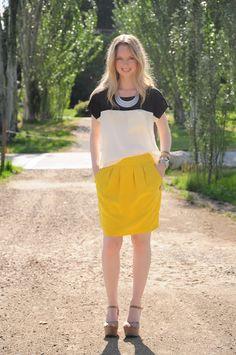 BLACK WHITE AND YELLOW ~ Thread Ethic | Modest Fashion Blog