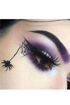 Purple Witch Makeup, Black And Silver Eye Makeup, Black Makeup Looks, Dark Makeup, Edgy Makeup, Gem Makeup, Eye Makeup Art, Smokey Eye Makeup, Skin Makeup