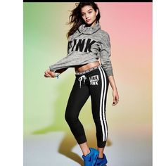Victoria's Secret Pink Ultimate Joggers -❌TRADING❌LOWEST❌ MONEY TALK ON WALL. ❌ Item is a size Small. Please notice the differences between the stock picture and my leggings. I have the pants in the last three pictures. PINK Victoria's Secret Pants Track Pants & Joggers