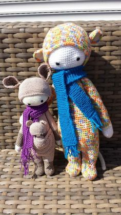 KIRA the kangaroo and RADA the rat made by Mandy van Z. / crochet patterns by lalylala