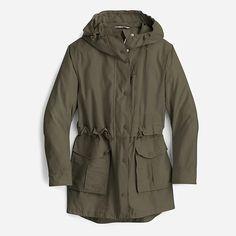 J.Crew: Perfect Rain Jacket For Women Raincoats For Women, Outerwear Women, Outerwear Jackets, Jackets For Women, Clothes For Women, Running In The Rain, Rain Jacket Women, Yellow Raincoat, Crew Clothing