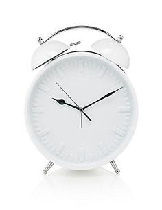 White Large Contemporary Alarm Clock
