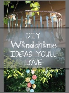 Creative wind chime ideas- recycle and upcycle to make amazing wind chimes- fun wind chime DIY ideas and home decor projects.