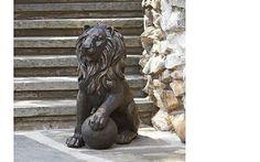 Outdoor Lion Statue Garden Decor Patio Lawn Yard Ornament Art Figure Guardian