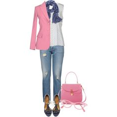 """""""White, BluePink"""" by suzette-63 on Polyvore"""