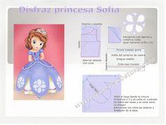 Patrón y costura : diy disfraz princesa Sofía. tema 107