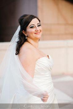 Flowing bridal veil